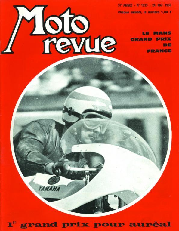Jean Auréal en Une de Moto Revue (1969)