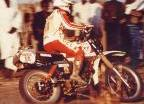 Cyril Neveu sur XT500 - Dakar 1980