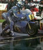 Lawson et Sarron sur le podium des GP500 (1985)