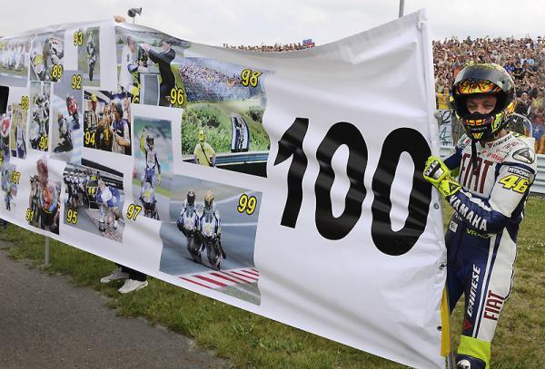 Valentino Rossi remporte une 100e victoire (2009)